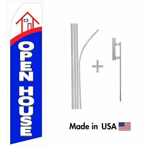 Open House Econo Flag 16ft Advertising Swooper Flag Kit With Hardware