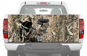 Hunting Bow Reaper Skull Camouflage Tailgate Graphic Decal Truck Pickup Wrap
