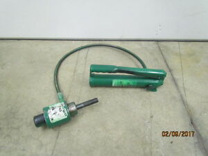 Greenlee 767 Pump And 746 Ram Knock Out With Draw Stud