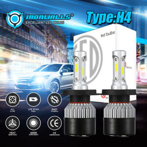 H4 Hb2 9003 240w 24000lm Cree Led Headlight Kit Hi Low Beams Bulbs 6000k White