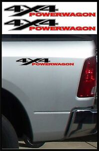 2 4x4 Power Wagon Offroad Decals Dodge Truck Accessories Black Red Silver