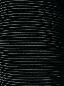3 16 Premium Marine Grade Bungee Shock Cord Uv Solid Black 10 20 25 50 100 Ft