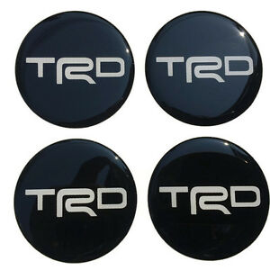 Wheel Center Caps Resin Logo Decal Emblem Sticker Black 60 Mm Vigo Revo Sr5 Tr