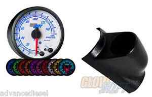 03 07 Ford Super Duty Glowshift White Elite10color Oil Pressure Gauge