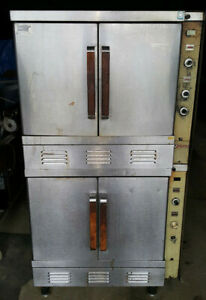 2 Double Deck Vulcan Gas Commercial Convection Ovens 4 Ovens Total