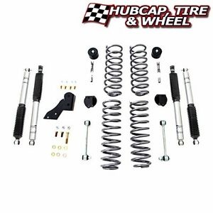 Rubicon Express 2 5 Front Rear Coil Lift Kit Re7121 Jeep Wrangler 07 16 2dr