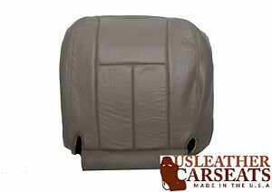 2003 Dodge Ram 1500 Pickup Driver Side Bottom Leather Seat Cover Gray