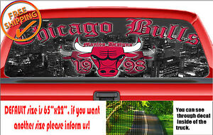 W218 Chicago Balls Bulls 1998 Basketball Rear Window Car Decal Sticker Jordan