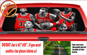 W220 Chicago Balls Bulls Basketball Sticker Jordan Rear Window Car Decal Nba