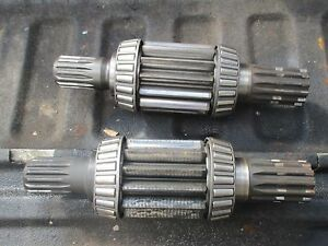 1972 International 1466 Diesel Farm Tractor Bull Pinion Brake Shafts Free Ship