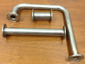 Stainless Steel Fittings Lot Of Three 3 Tri clamp Connections
