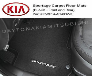 Kia Sportage Black Carpet Floor Mats Front Rear Factory