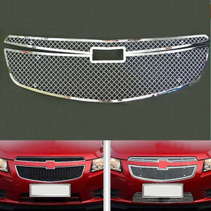 For Chevrolet Cruze 2009 2014 2pcs Front Grill Honeycomb Mesh Grille Replace