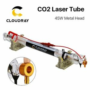 45w 50w Co2 Laser Tube Metal Head 850mm Glass For Laser Engraver Cutter Machine