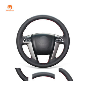 Durable Black Leather Steering Wheel Cover For Honda Accord 8 Odyssey Pilot