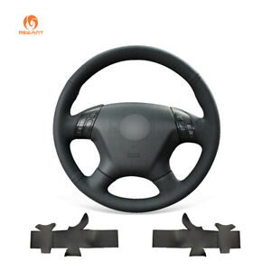 Mewant Black Pu Leather Car Steering Wheel Cover For Honda Accord 7 2003 2007