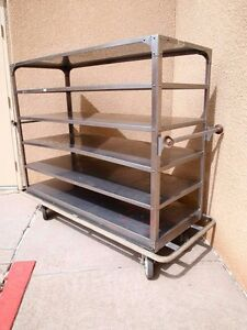 Stainless Steel Banquet Hospital Cart With 6 Shelves