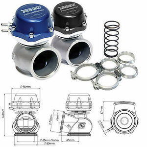Turbosmart Power gate 60mm External Wastegate blue
