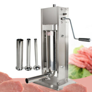 5l Vertical Commercial Sausage Stuffer 11lb Stainless Steel Meat Press