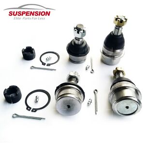 Set Of Front Upper And Lower Ball Joints For Jeep