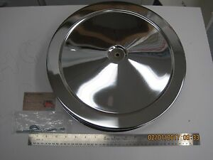 14 Muscle Car Style Air Cleaner Set Chrome Chevy Mopar Ford Pontiac Buick Gmc