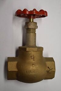 Walworth 1 1 4 Industrial Bronze Globe Valve Class 125 200 Wog free Ship