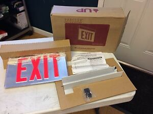 New Lithonia Lighting Edge Lit Led Emergency Exit Lrp W 1 Rmr 120 277 El N Pnl