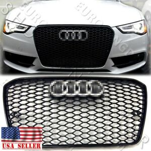 New Rs5 Style Gloss Black Mesh Grille Chrome For Audi 2013 2014 2015 A5 S5