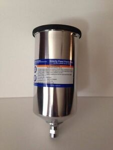 1 Liter 33 Oz Aluminum Metal Gravity Feed Paint Cup For Hvlp Sprayer Spray Gun