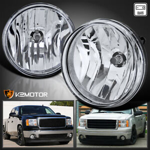 Gmc 07 13 Sierra 1500 2500hd 3500hd Pickup Clear Bumper Fog Lights Switch Bulbs
