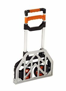 150 Lb Seville Classics Folding Utility Cart Hand Truck Heavy Duty Orange Nip