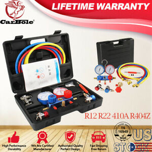 Hvac Ac Refrigeration Kit A c Manifold Gauge Set Air R134a R12 R22 410a R404z Us
