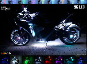 96 Led All color Motorcycle Led Strip Light Kit Neon Accent Glow Wide Road Glide