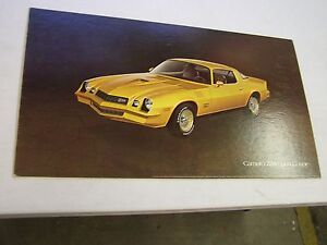 Oem 1978 Chevrolet Camaro Z28 Coupe Dealership Display Picture Cardboard