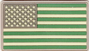 TACTICAL OD GREEN US FLAG PVC SOFT RUBBER PATCH $5.00