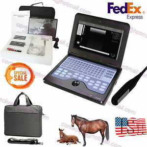Digital Veterinary Laptop Machine Ultrasound Scanner Vet 7 5mhz Rectal Probe usa