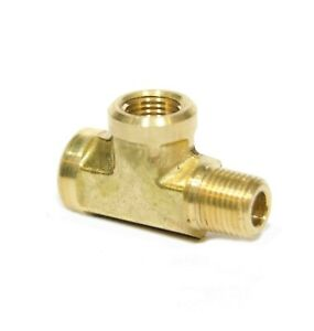 1 8 Npt Male Female Street Tee T Forged Brass Pipe Fitting Fuel Air Oil Gauge
