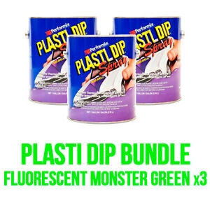 Plasti Dip 3 Fluorescent Monster Green Gallons Ready To Spray Free Shipping