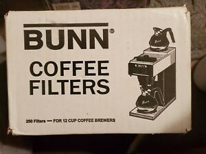 Bunn 250 Count 12 Cup Commercial Coffee Filters Authentic White Kitchen