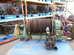 Braden Winch Hydraulic Model Ahs10 23a Excellent Condition 30000lbs Capacity