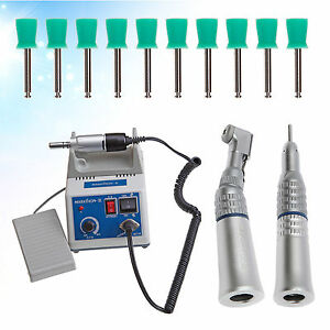 Dental Lab Marathon Polisher Electric Micromotor Contra Angle Prophy Cups Gift