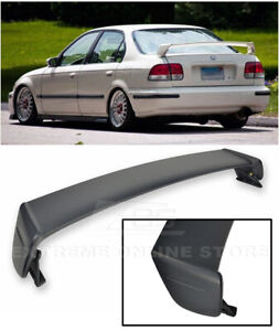 For 96 00 Honda Civic Sedan Mugen Style Abs Plastic Rear Trunk Wing Spoiler Lip