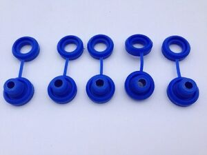 Hi Temp Blue Snapper Exhaust Grommet With Washer Anti Vibration Insulators 5 Pcs