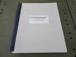 Taylor Dunn Bo 248 36 Burden Carrier Maintenance Service Manual