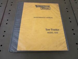 Pettibone Mercury Tow Tractor Maintenance Manual Model 80g W Perkins 4 236
