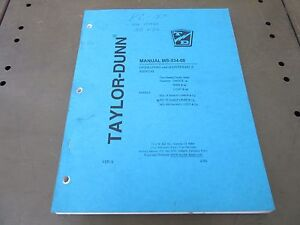 Taylor Dunn Operator Maintenance Manual Models Ss5 34 Ss5 36 Mx 600