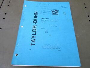 Taylor Dunn Mb 248 06 Operator Maintenance Manual Model B2 38 B2 48 B2 54