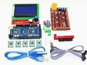 3d Printer Motherboard Set 12864 Lcd Ramps V1 4 2560 R3 A4988 Driver