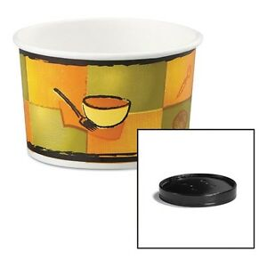 Huhtamaki Soup Food Containers With Vented Lids 71849