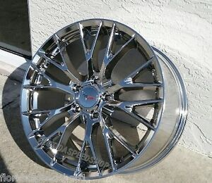 Chrome C7 Z06 Corvette Wheels Set 18x8 5 19x10 Fits C6 2005 2013 C6 Base Z51